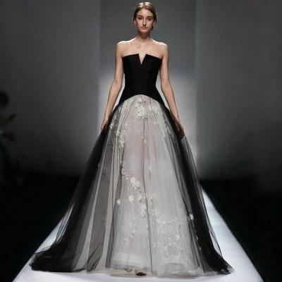 nupcial gótico victoriano vestidos de novia 2017 de tulle del