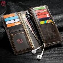 Evrensel telefon çantası deri cüzdan kılıf kart yuvaları çanta kapak iPhone X Xs Max XR 6 7 8 artı doğum günü için noel günü hediyesi
