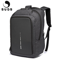 SUDS Casual Anti Theft Backpack Men Canvas Travel Laptop School Bags Backpack USB Charging Men S