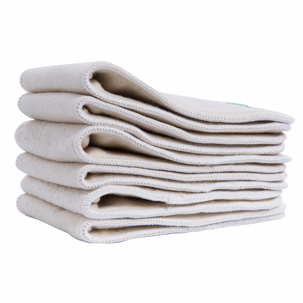 Image 3 - 5pcs/lot Hemp Organic Cotton Inserts 4 Layers  Cloth Diapers Nappy Liners Reusable Baby Diapers Hemp Insert-in Baby Nappies from Mother & Kids
