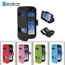 Двойное окно из искусственной кожи 4.0For Samsung Galaxy Trend Plus S7580 чехол для Samsung Galaxy S Duos S7562 сотовый телефон обратно Чехол