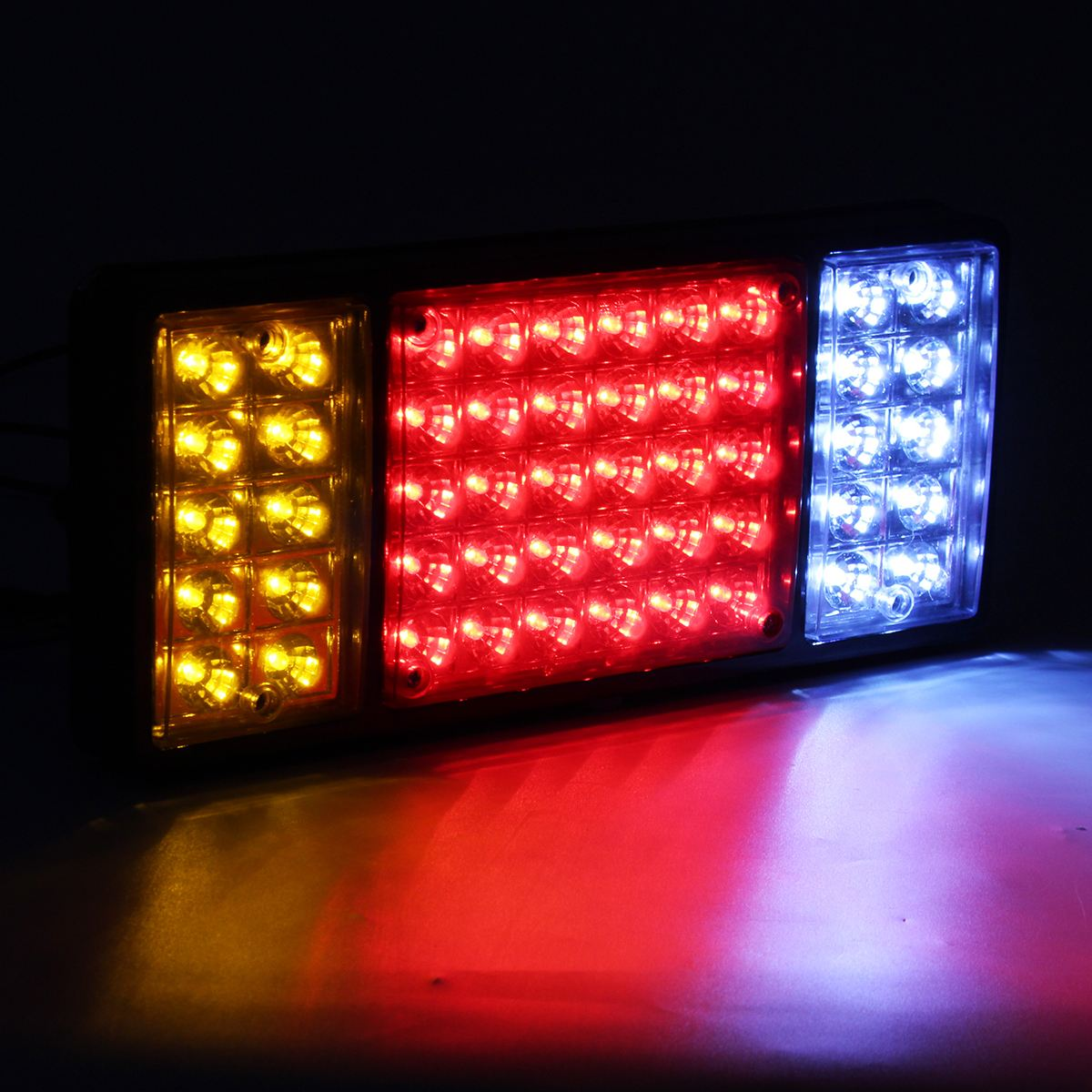 1Pair 12V LED Car Rear Tail Lights Reverse Lamp For Trailer Caravan Truck Lorry Rear Reverse Stop Light