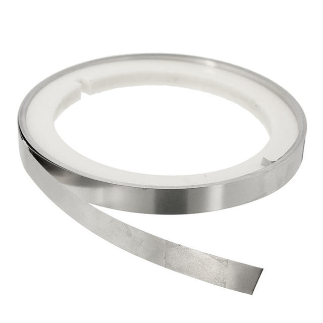 5m Pure Nickel Welding Tape 10X0.15T Plated Steel Strip Sheet For Battery Pack DIY Dia10.6cm Silver Corrosion Resistance