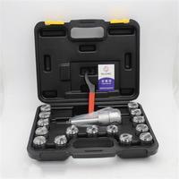 MT2/ MT3/MT4 ER32 Collet Chuck Taper Holder + 15Pcs ER32 Spring Collet 3 20mm Spanner
