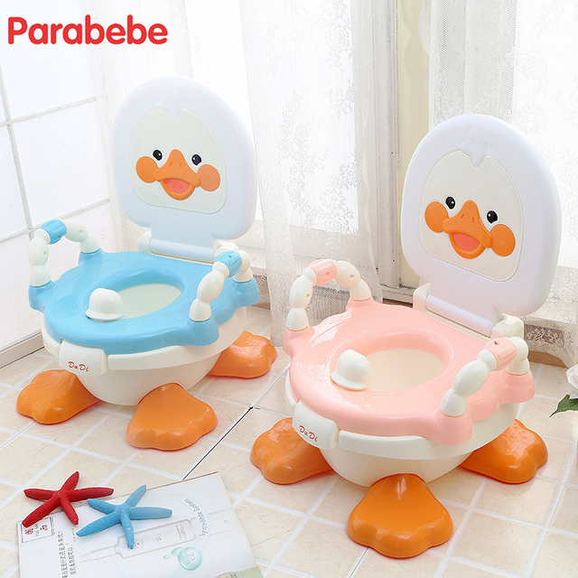 Duck Design Cute Blue Toilet Training For Kids Pp Material Camping Toilet Portable Toilet Travel Potty