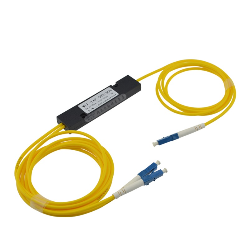 Free Shipping 1310/1550nm Dual Window 50/50 Ratio LC/UPC ABS Box Type 1x2 FBT Coupler 1*2 FBT FIber Optic Splitter ...