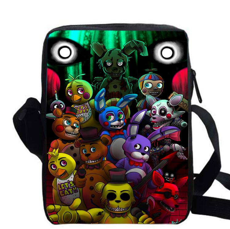 custom made FNAF Freddy Chica Foxy Bonnie print shoulder
