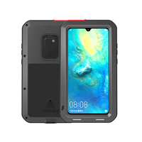 Armor Metal Case For Huawei Mate 20 Lite Case Soft Silicone Tempered Glass 360 Full Body Cover For Huawei Mate 20 Pro 8 9 10 Pro