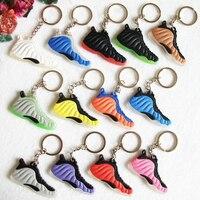 Air Foamposite Penny Jordan Basketball Retro Shoes Keychains Keyring Key Holder Souvenirs Porta Chaves Key Rings