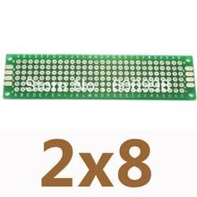 100 teile/los 2*8 cm Double Side Prototyp Kupfer Platine Universelle Board Breadboard Für Arduino Experimentelle Platte DIY