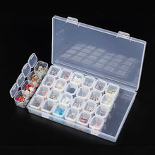 Detachable independent 28 Jars Slots Nail Art Storage Box Case Tips Jewelry Organizer Beads Tools