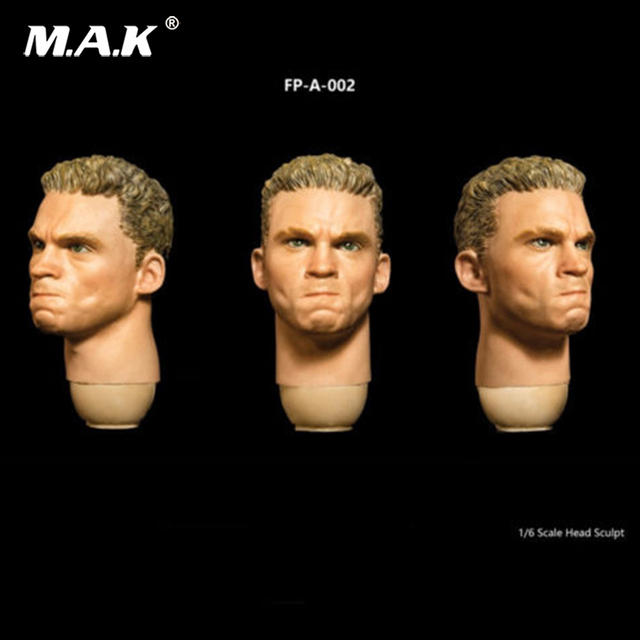 """1/6 Male Head Sculpt with Expression FP-A-002 Angry Head Carving Fit 12"""" Figure"""