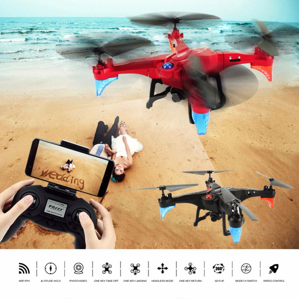 RC Drone WIFI FPV Transmitter RC Helicopter 2.4GHz Headless Mode RC Quadcopter Altitude Hold Mini Drone with Camera jjrc h12wh wifi fpv with 2mp camera headless mode air press altitude hold rc quadcopter rtf 2 4ghz