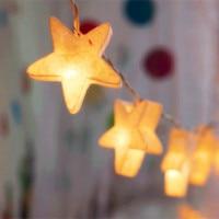 30Led Яркая Звезда Праздник Фея Огни Строки Светодиодные Пластиковые Звездный Свет для Сада Свадьбы Рождество Освещение Украшения