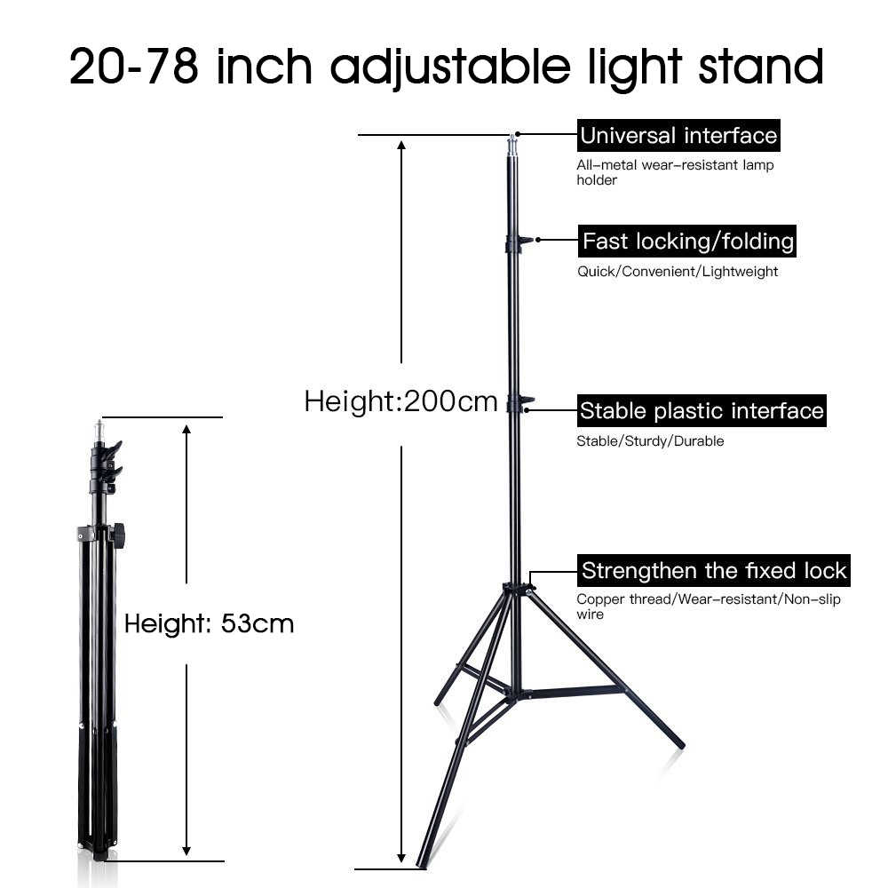 hight resolution of  capsaver 2 in 1 kit led video light studio photo led panel photographic lighting with tripod