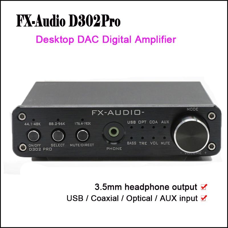 FX Audio D302Pro Desktop Dac Digital Amplifier Audio USB DAC Audio Power Amplifier NE5532 with Headphone