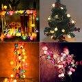 TSLEEN outdoor 40 led rattan ball lamp string ip44 fairy light patio xmas christmas tree decorations eu plug