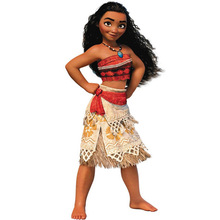 2018 New Kids Carnival Clothing Girls Moana Adventure Cosplay Princess Dress Children Halloween Party Role Play Costume цена