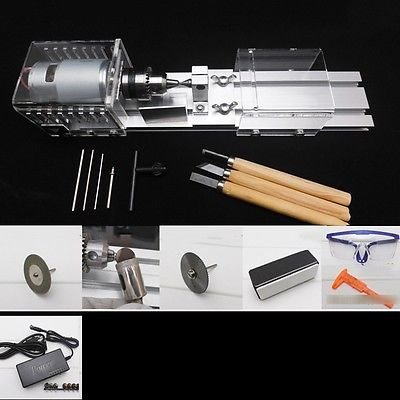 Wood Working DIY Wood Lathe Mini Lathe Cutting Machine Table Saw Polisher For Cutting Polishing Woodworking adjustable double bearing live revolving centre diy for mini lathe machine