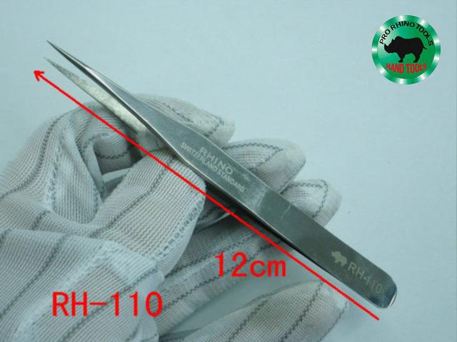 Marca RHINO RH-110 120mm Pinzas antiestáticas de Alta precisión Súper Fuerte Para La Reparación de Reloj o De Sujeción Móvil objetos pequeños