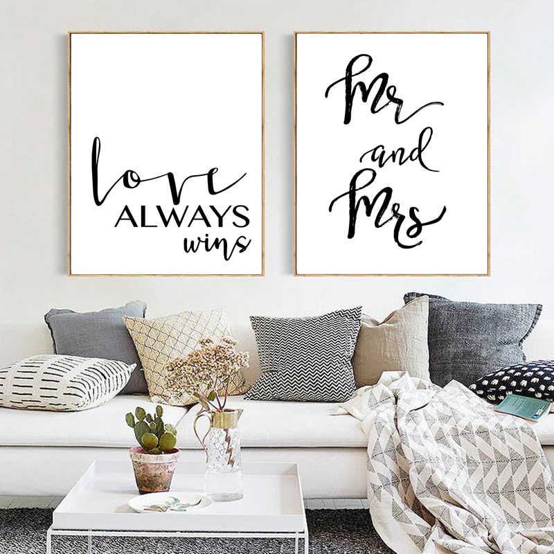 Mr Mrs Love Wall Picture For Room Makeup Beauty Eyelash Decorative Painting Print Poster Canvas Painting