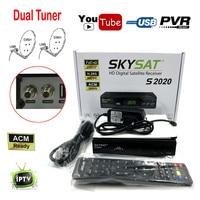 남미 ACM 디지털 위성 수신기 트윈 접시 튜너 H.265 AVC 안정적인 Clines IKS SKS VCM/CCM IPTV LAN