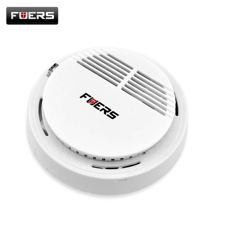Fuers RT Fire Smoke Sensor Detector Alarm High Sensitive Home Security System Cordless your house protection Without Battery wireless smoke fire detector smoke alarm for touch keypad panel wifi gsm home security system without battery