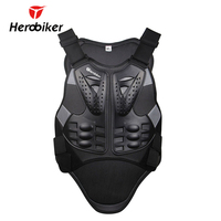 HEROBIKER Motorcycle Armor Motorcross Racing Armor Black Motorcycle Riding Body Protection Jacket With A Reflecting Strip