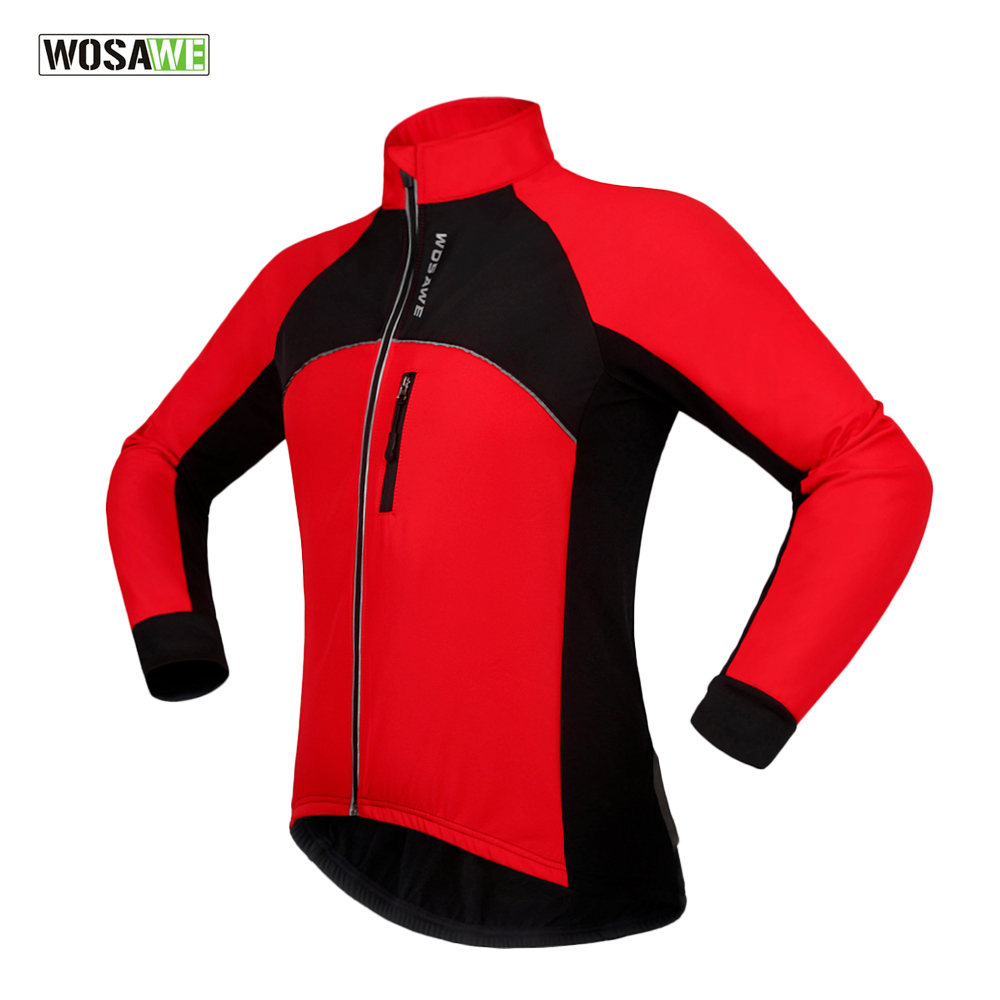 2017 WOSAWE New Thermal Cycling Jackets Winter Warm Up Bicycle Clothing Windproof Waterproof Sports Wear MTB Bike Jersey fcfb arsuxeo warm up fleece thermal cycling bike bicycle jersey winter windproof long sleeve jacket men s outdoor sports clothing