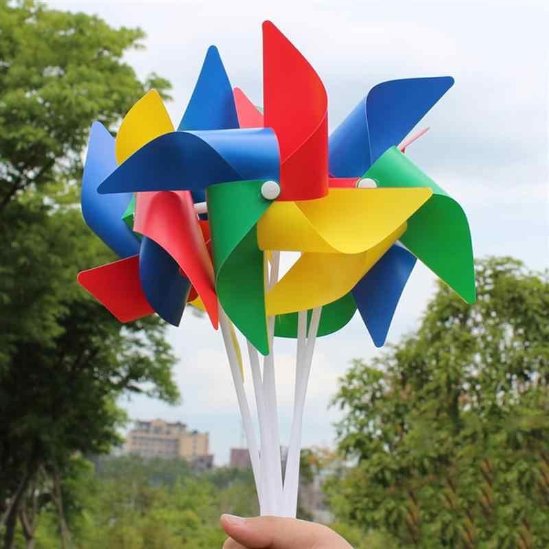 20 шт. пластиковая ветряная мельница забавные красочные легкие детские игрушки для улицы Pinwheel Wind Spinner Для детей подростков
