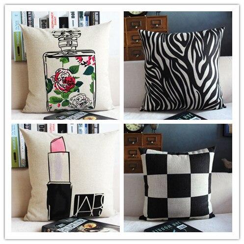 perfume lipsticker linen cotton home decor pillow cushion
