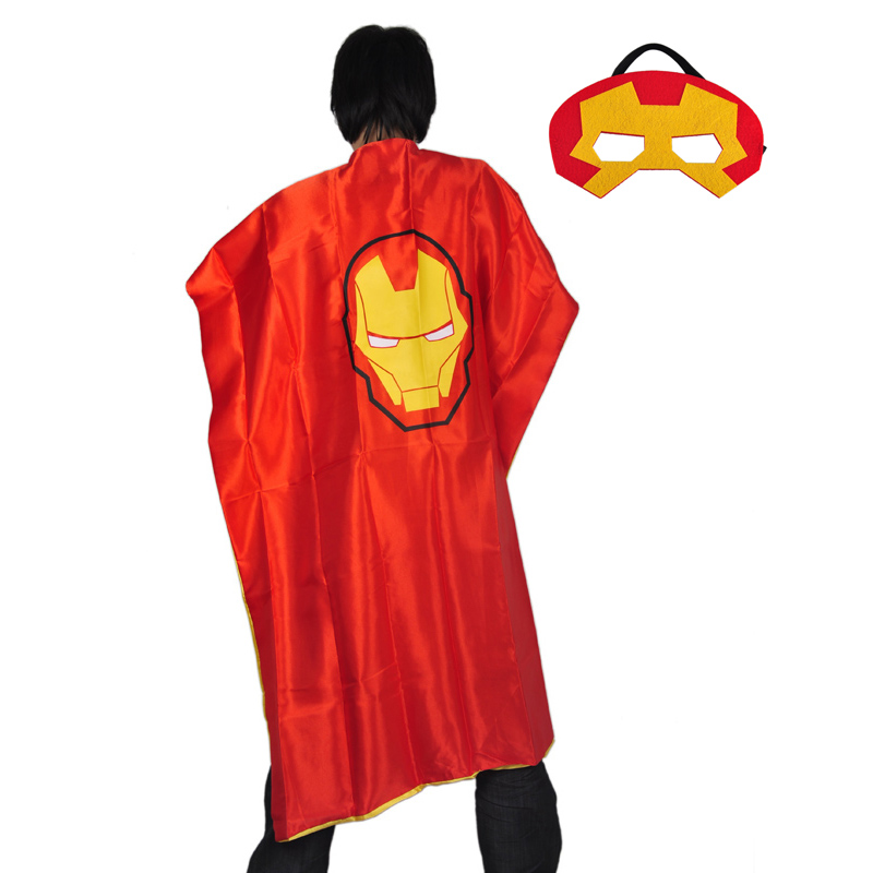 Adult superhero capes super hero superman batman cape cloak mask halloween masks cosplay costume event party decoration supplies
