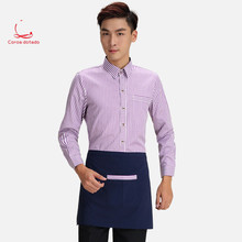 Hotel waiter work clothes long sleeve blouse western restaurant hotpot dining
