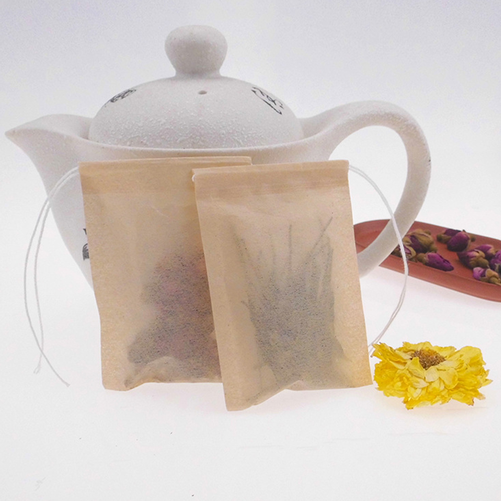100Pcs Disposable Empty Spices Leaves Heat Resistant Thin Coffee Sterile Infusion Non-toxic Filter Bag Tea Herb Infuser