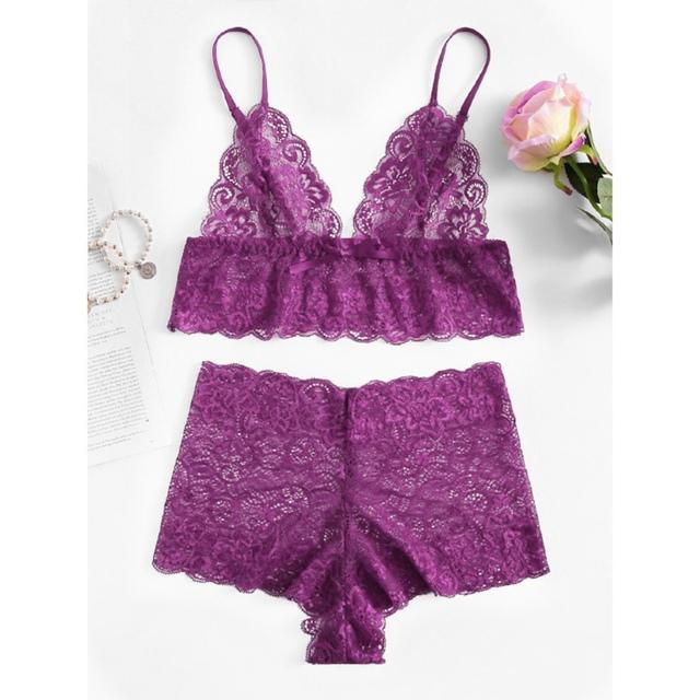 Sexy Lace Underwear – Bra  and Brief Lingerie Set