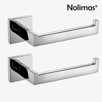 2 Pcs Lot SUS 304 Stainless Steel Bathroom Paper Holder Toilet Roll Holder For Paper Towel