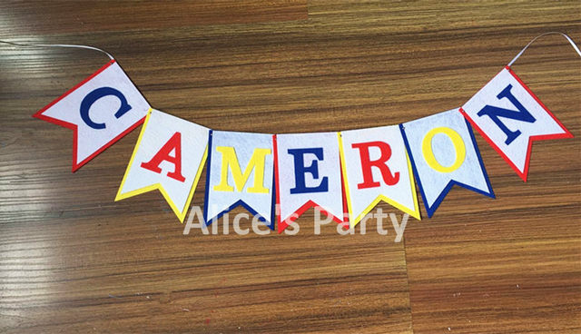 online shop customized name bunting red blue yellow baby shower