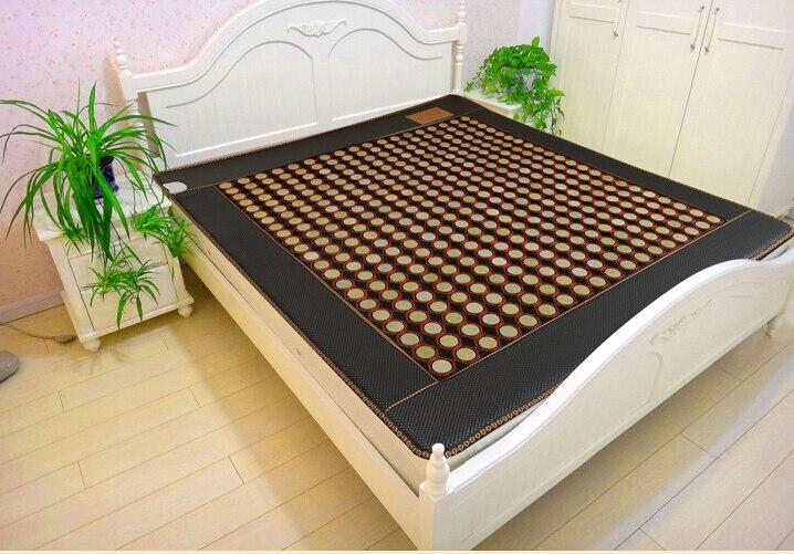 220V korea jade heating massage mattress thermal jade mattressmade in china electric massage mattress 1.2*1.9M 2016 electric heating massage jade stone mattress korean mattress wholesaler 1 2x1 9m