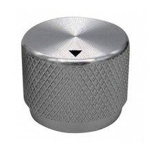 Высококачественная алюминиевая ручка громкости, ручка потенциометра, мощность регулятор для усилителя 20x15 мм-серебристая