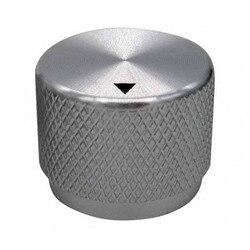 Perilla de volumen de aluminio de alta calidad, perilla de potenciómetro, perilla amplificadora de potencia de 20x15mm, plateado
