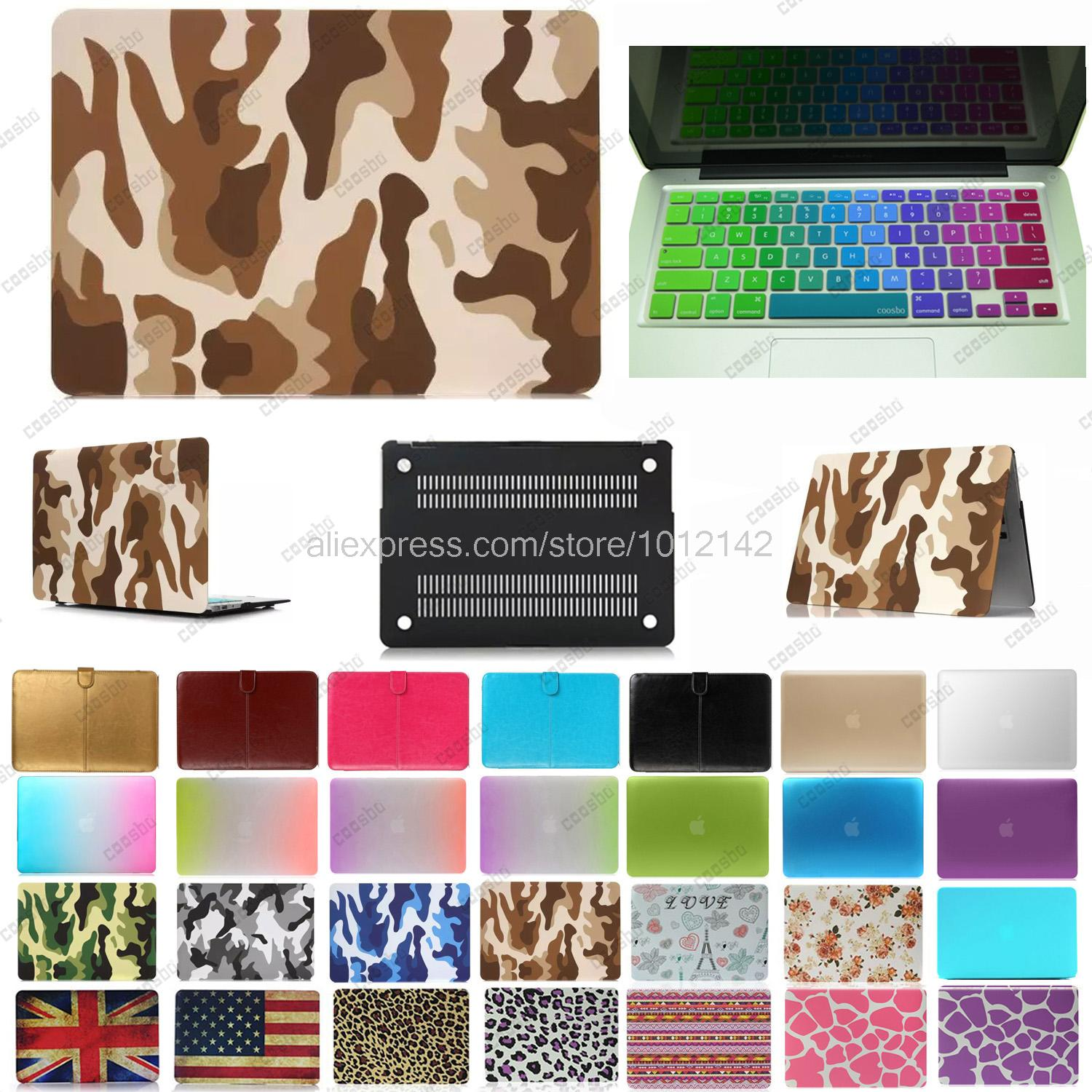2in1 colorful Hard shell Case For 13 15 mac Macbook Air Pro Retina + russia Russian Keyboard Cover protector Skin freeship