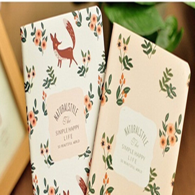 1pc lot Beautiful Flower Series Notebook Pocket Book Kawaii Cute Stationery Diary Book Student Gift School Supply Party Favor in Signature Guest Books from Home Garden