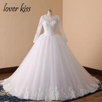 2016 Long Sleeve Wedding Dress Vestidos De Noiva Ball Gown Bridal Gown Luxurious Wedding Dress