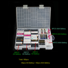 1 шт. 40 АА Батарея + 60XAA Батарея держатель Чехол Портативный Пластик Батарея ящик для хранения/Организатор/контейнер aa aaa Rangement ворс