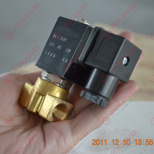 Pilot normally closed gas high pressure 12v water solenoid valve