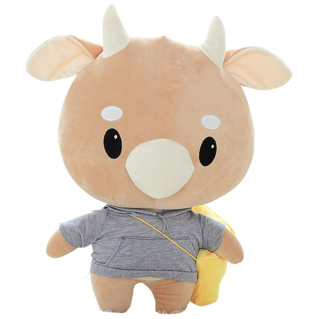 Korean TV soaps hard Cow plush toy cute Cow stuffed animal doll pillow Boys  girls game birthday gift free shipping c9cf83a708