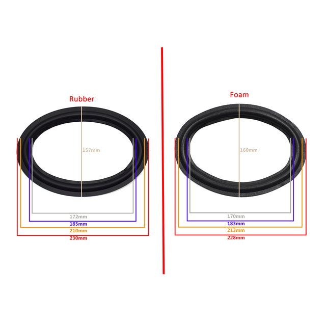 6X9 дюймов динамик объемный край НЧ-динамик ремонт складной край сабвуфера кольцо DIY ремонт аксессуары динамик подвеска