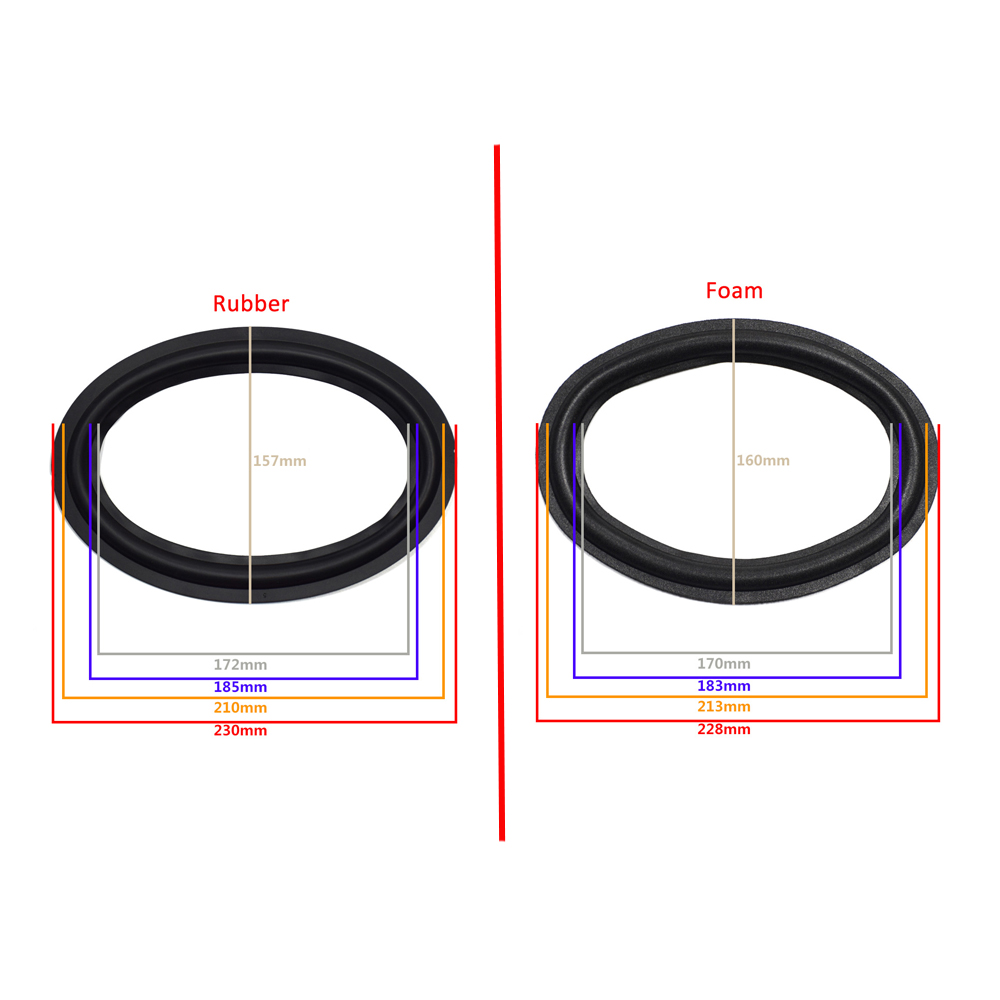 6X9 Inch Speaker Surround Edge Woofer Repairing Folding Edge Subwoofer Ring DIY Repair Accessories Speaker Suspension