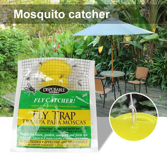 New Disposable Fly Trap Non Toxic Outdoor Insect Catcher Bag Pest Control