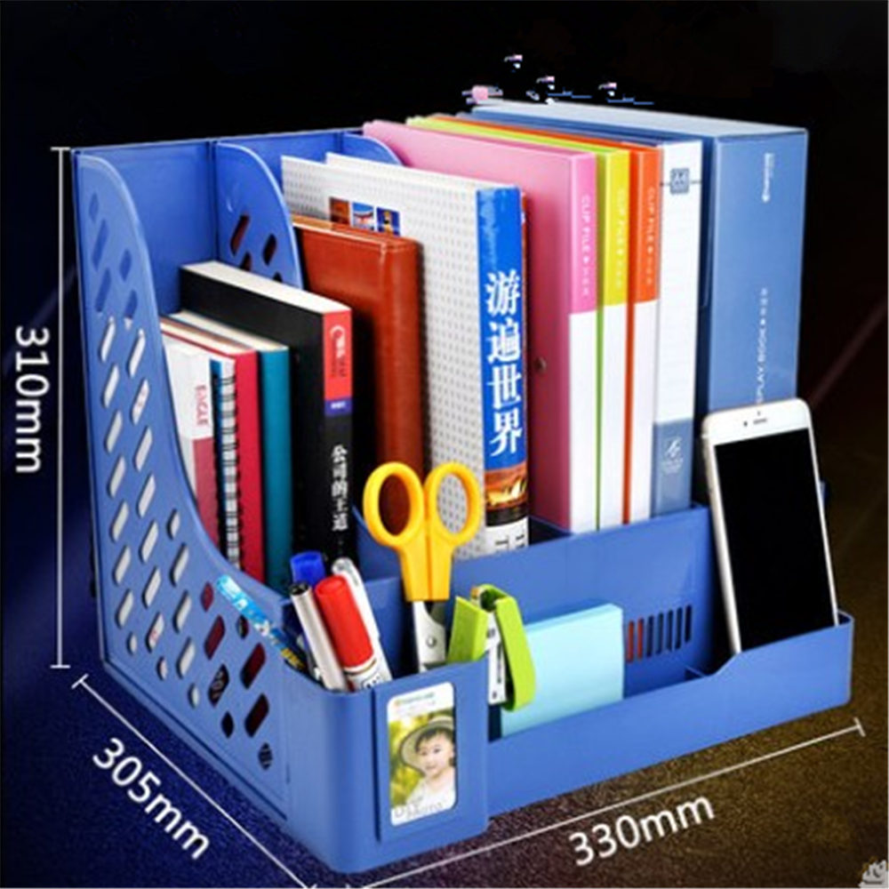 4 Layers File Tray File Document Holders Desk Set Book Holder Bookend Organizer Office School Supplies Desk Accessories deli 4 layers file tray file document holders desk set book holder bookend organizer office school supplies desk accessories